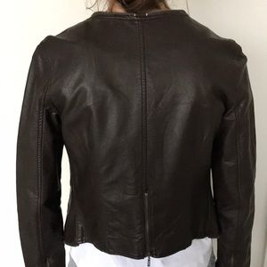 Miilla Clothing Jackets & Coats - Miilla Clothing leather jacket - brown